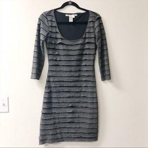Max Studio Women's Grey Ruffle Dress Small